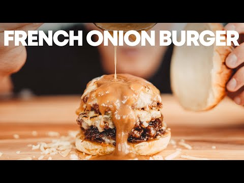big bistro burgers with caramelized shallots