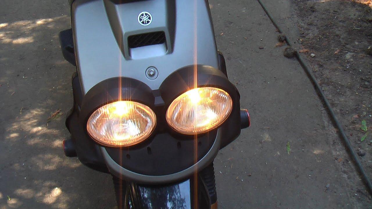 Yamaha Zuma (BWS) Dual Headlight Mod  YouTube