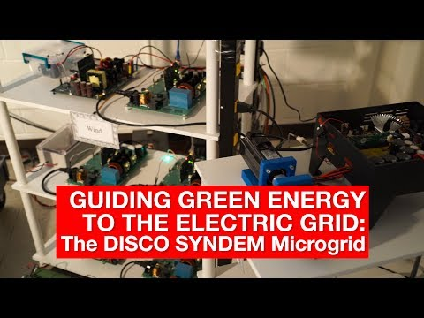 Guiding Green Energy to the Electric Grid: The DISCO SYNDEM Microgrid