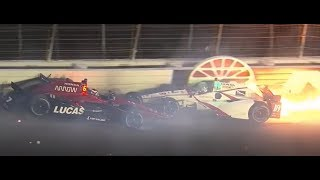 Indycar 2017: Texas All Crashes Compilation