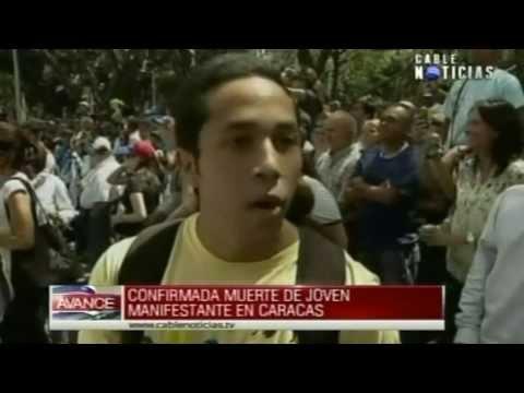 Un manifestante muerto durante marcha opositora en Venezuela