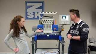 ZSK Sprint 6 Embroidery Machine Demonstration