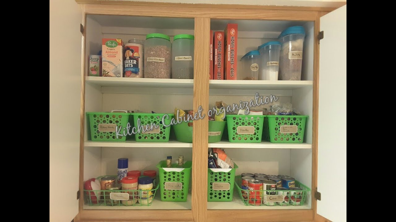 Kitchen Cabinet Organization Food Storage Youtube