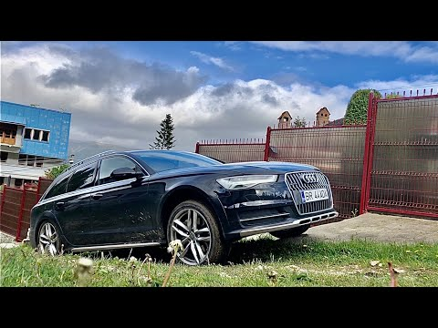 Audi A6 Allroad 3.0 BiTDI (320 Hp) Quattro Test Up The Hill On 10 Degress On The Wet Grass & Stones