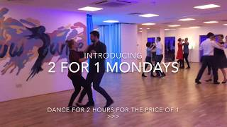2 for 1 Mondays, Ballroom & Latin dance classes in London!