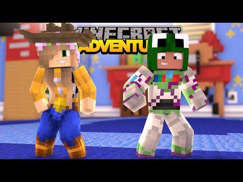 Minecraft School Day Off -  LITTLE KELLY & LITTLE LIZARD SUCKED INTO A MOVIE!