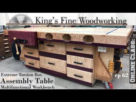 62---extreme-torsion-box-assembly-table,-outfeed-&-multifunction-workbench-w/storage