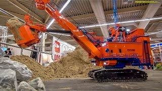 RC excavator EXTREME! 1.400 ton R/C construction machine at work!