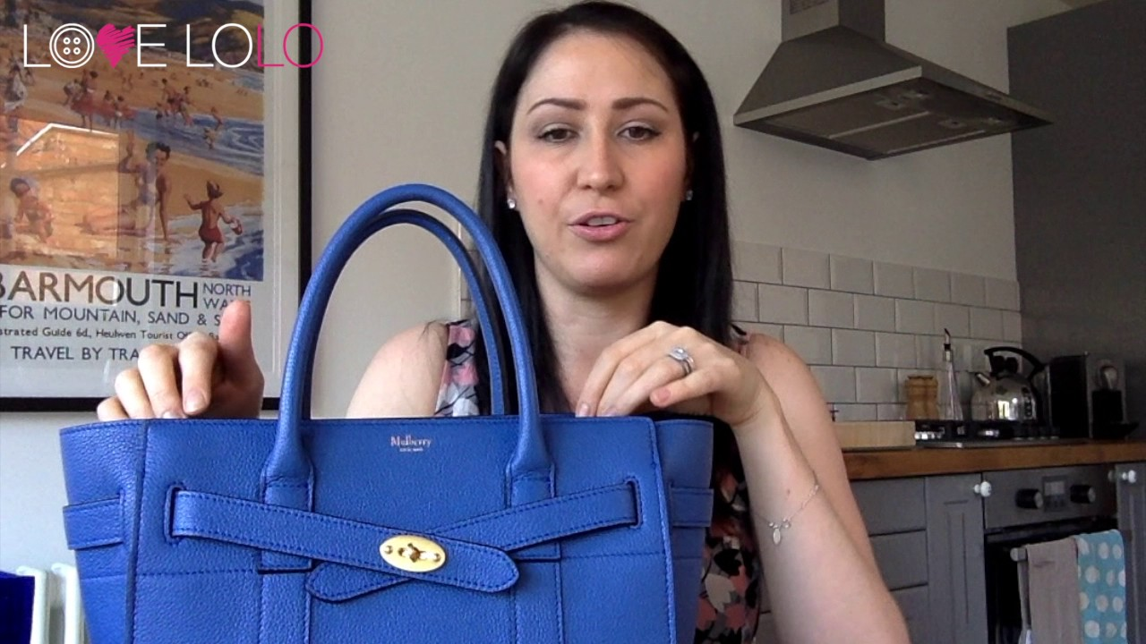 e152e8c69b6d Mulberry Small Zipped Bayswater Review - YouTube
