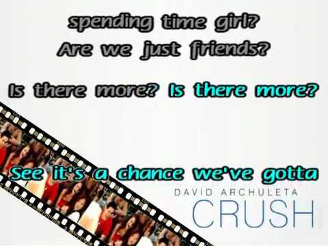 "David Archuleta - Crush""Karaoke Version/Original"""