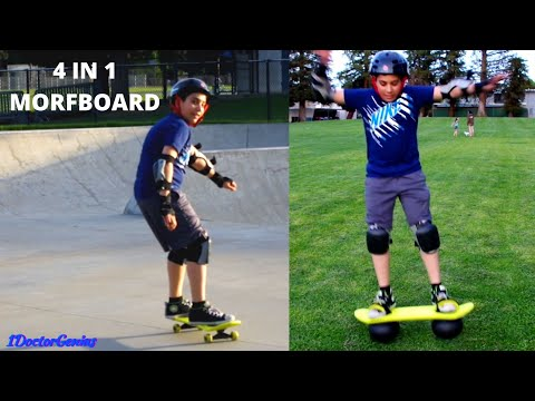 Morfboard -  The Most Awesome 4 In 1 Board - Skate, Scoot, Bounce & Balance - Unboxing & Demo