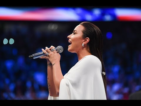 Demi Lovato Sings National Anthem Mayweather vs McGregor 2017