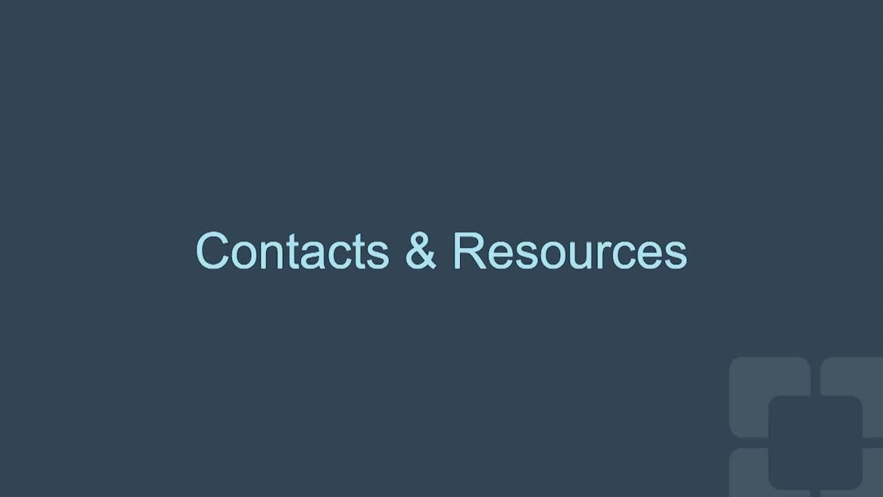 Parent Resources and Contacts