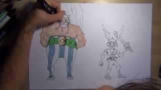 comment dessiner obelix