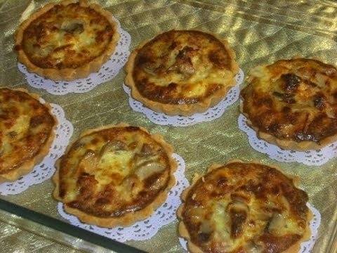 كيش-بالكروفيت-(-الجمبري-)-و-الفطر-quiche-au-crevettes-et-champignons