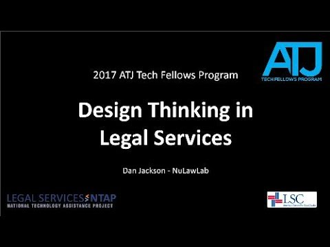 Design Thinking in Legal Services by Dan Jackson