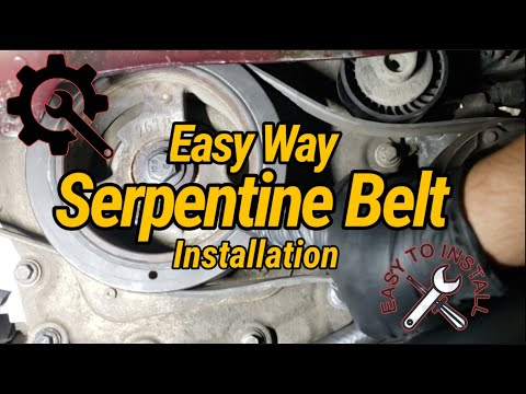 How to Install Serpentine Belt on Lincoln Mkx 3.7L 3.5L FordEdge with (Diagram)