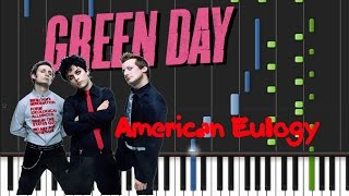 Green Day - American Eulogy [Piano Cover Tutorial] (♫)