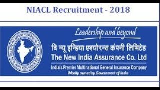 NIACL recruitment 2018 - 685 vacancies - Mpas Tayari