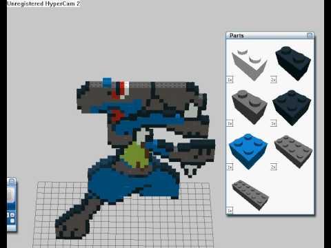 Lego custom Lucario minifigure - YouTube