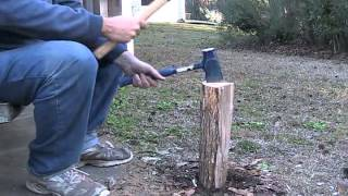 My method of splitting firewood kindling using the Fireside Friend maul