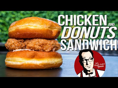 KFC CHICKEN & DONUTS SANDWICH… BUT HOMEMADE & WAYYY BETTER! | SAM THE COOKING GUY 4K