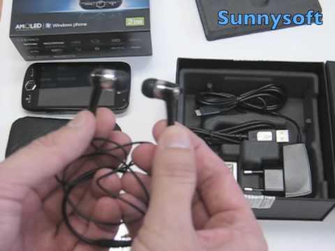 Samsung i8000 Omnia II obsah balení