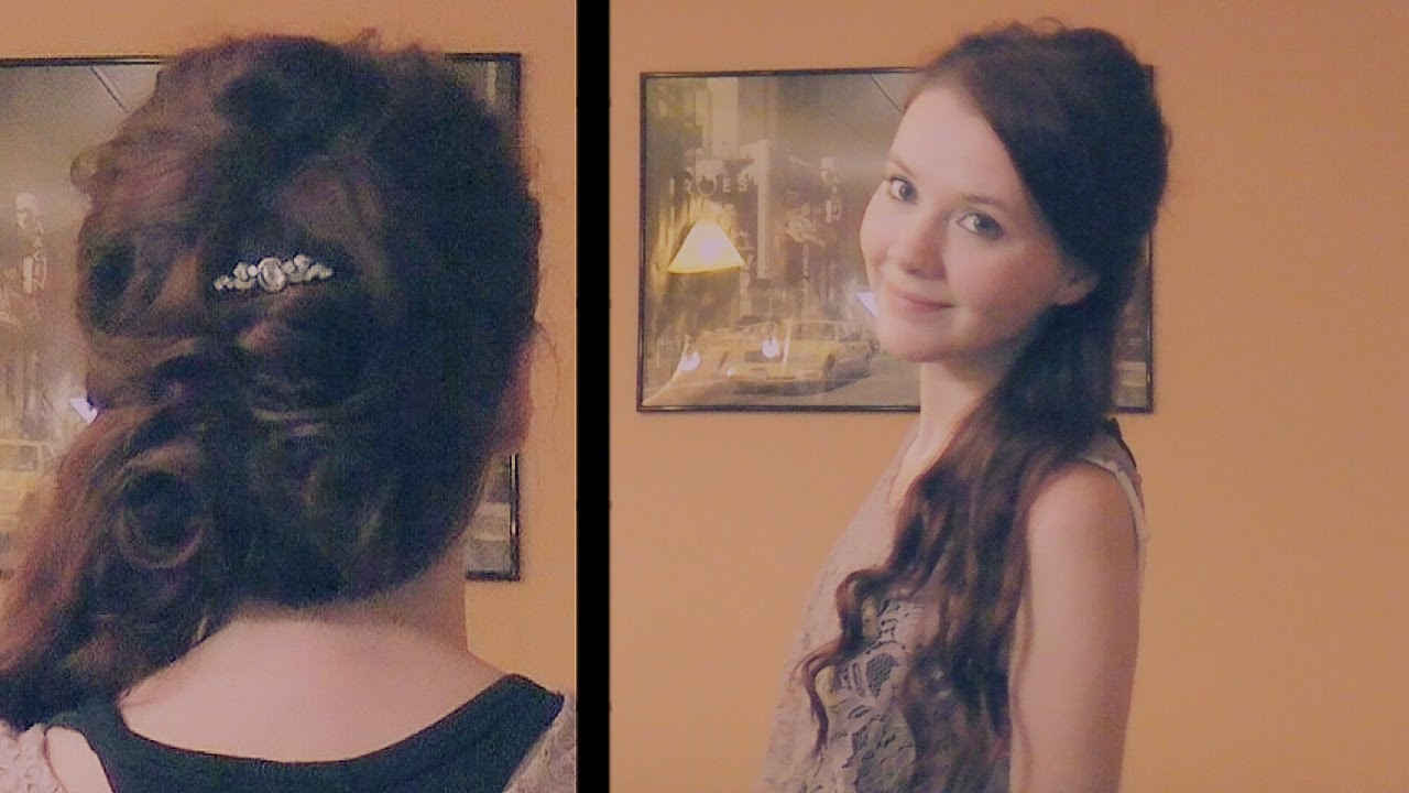 Hermine Granger Weihnachtsball Frisur Yule Ball Hairstyle Tutorial Harry Potter