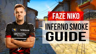 FaZe NiKo Inferno Smokes Flashes And Nade Guide CS:GO