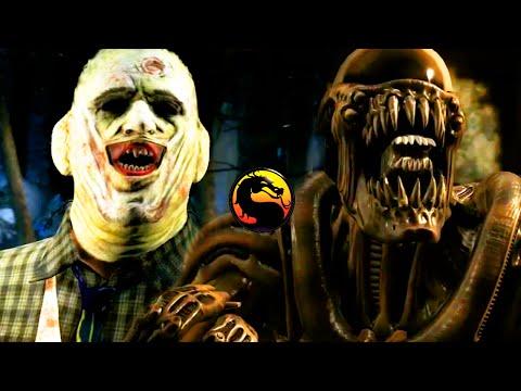 Mortal Kombat X: NEW Kombat Pack 2 Gameplay Trailer ALIEN, LEATHERFACE, TRIBORG & BO RAI CHO