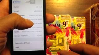 Unlock iphone 5/5S/5C GSM by R-Sim 9 on iOS 7 (Malaysia Celcom)