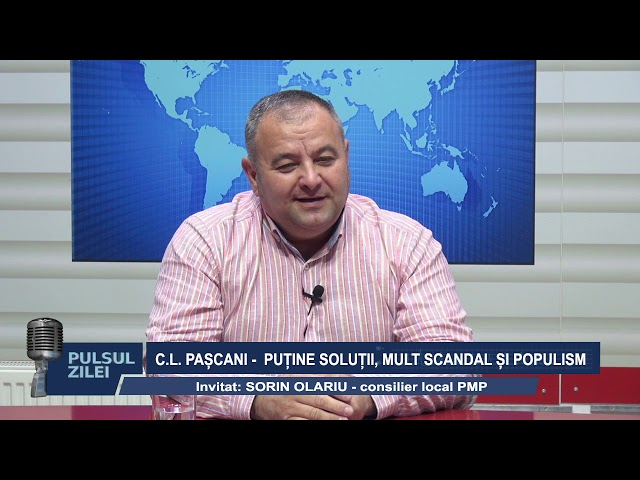 PULSUL ZILEI 9 OCT 2019 : CL PASCANI - PUTINE SOLUTII, MULT SCANDAL