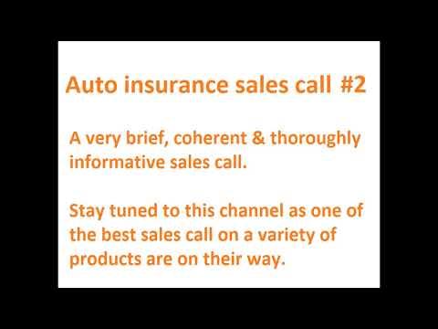 Auto insurance sales call #2