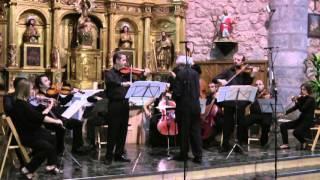 Johann S. Bach, CONCIERTO para Dos Violines en Rem BWV 1043. Solistas: David Martínez y Andrés Ortiz
