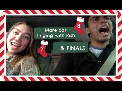 More car karaoke with Rish, Happy Hanukah and studying for finals   Vlogmas Day 7 & 8