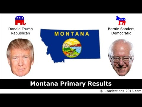 Montana Primary Result 2016 : US Election 2016