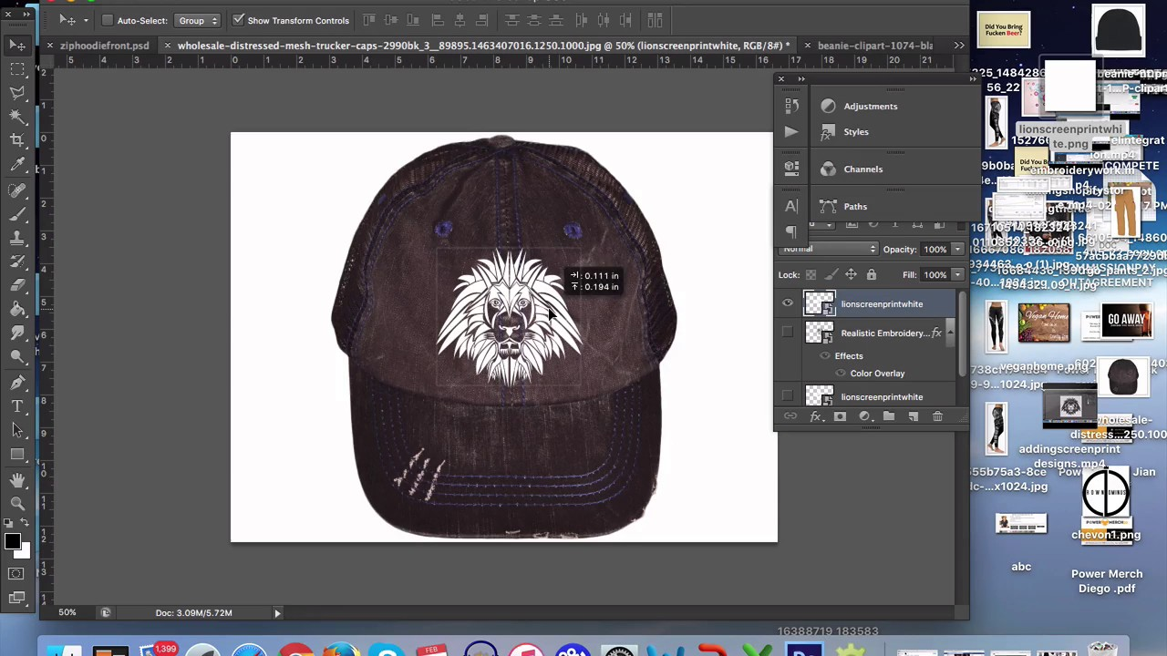 f894e5a1c1bc5 Embroidery Design Dimensions for Caps and Beanies - YouTube