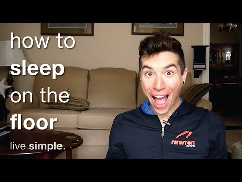 How To Sleep On The Floor   Transition Tips   Simple Living Minimalism