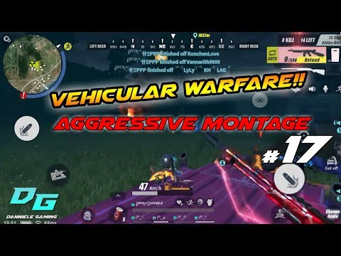 Vehicular Warfare!! | Aggressive Montage #17 | Rules of Survival Mobile