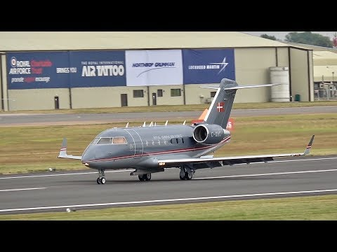 Bombardier Challenger 604 Royal Danish Air Force arrival at RIAT 2017 AirShow