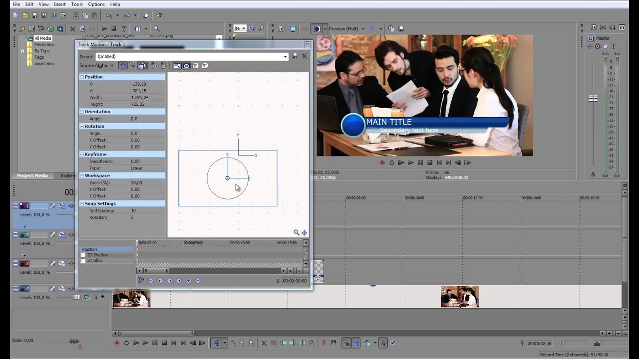 Free Lower Third Template Tutorial For Sony Vegas Youtube