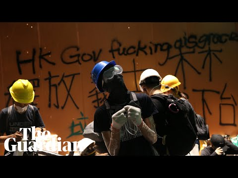 Hong Kong protesters storm government headquarters