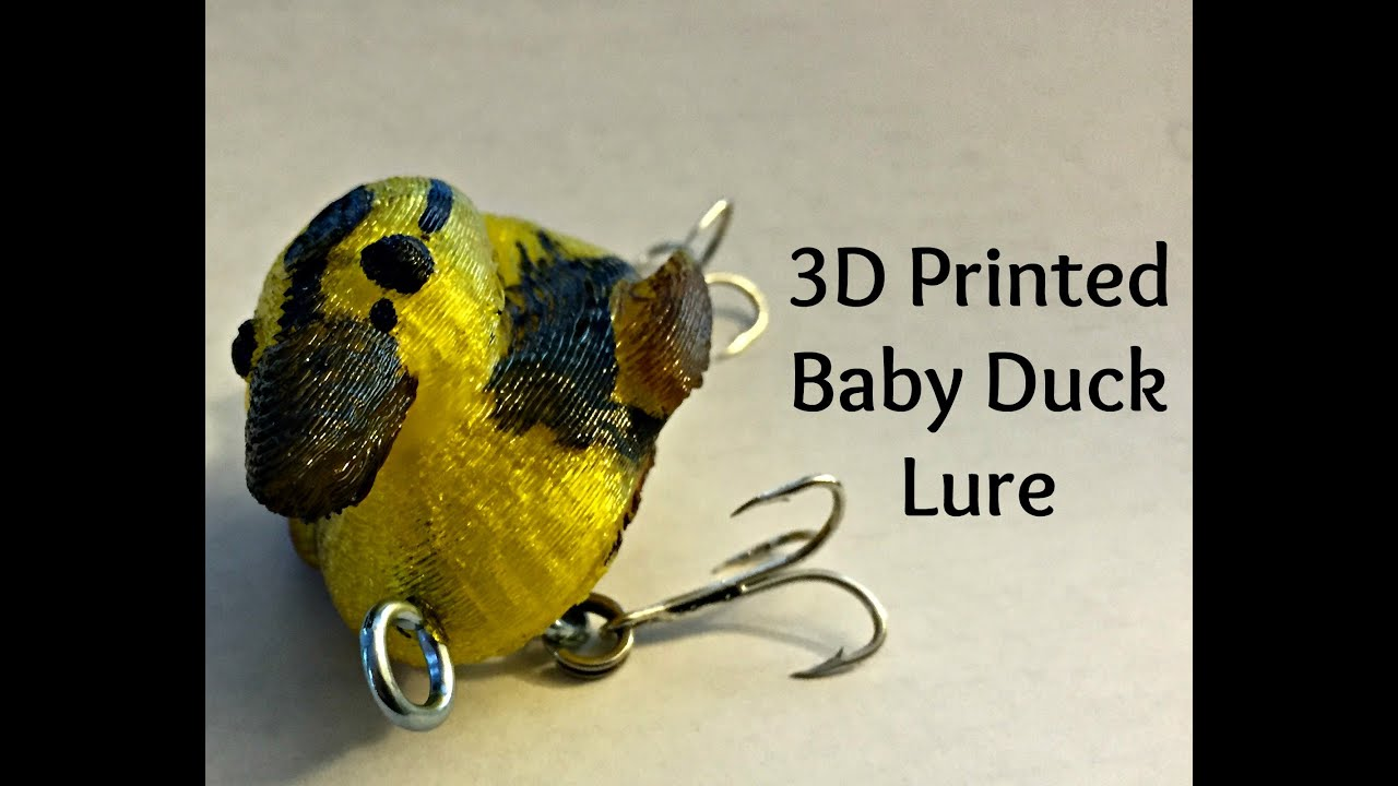 3d printed baby duck fishing lure in action youtube for 3d printed fishing lures