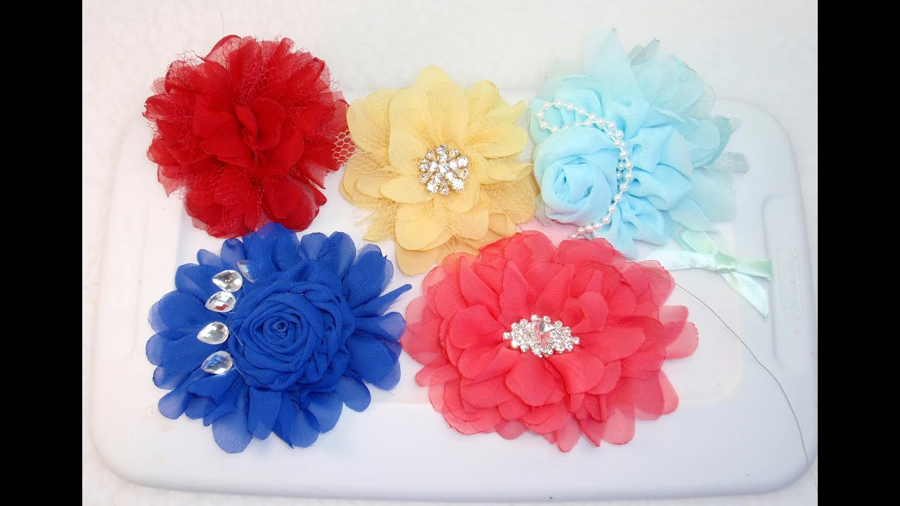 DIY Fabric Flower Tutorial DIY How to make