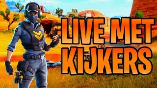 KIJKERS MET FORTNITE EN VIVO + 1000 V-Bucks GIVEAWAY NL/BE FORTNITE BATTLE ROYALE NEDERLANDS