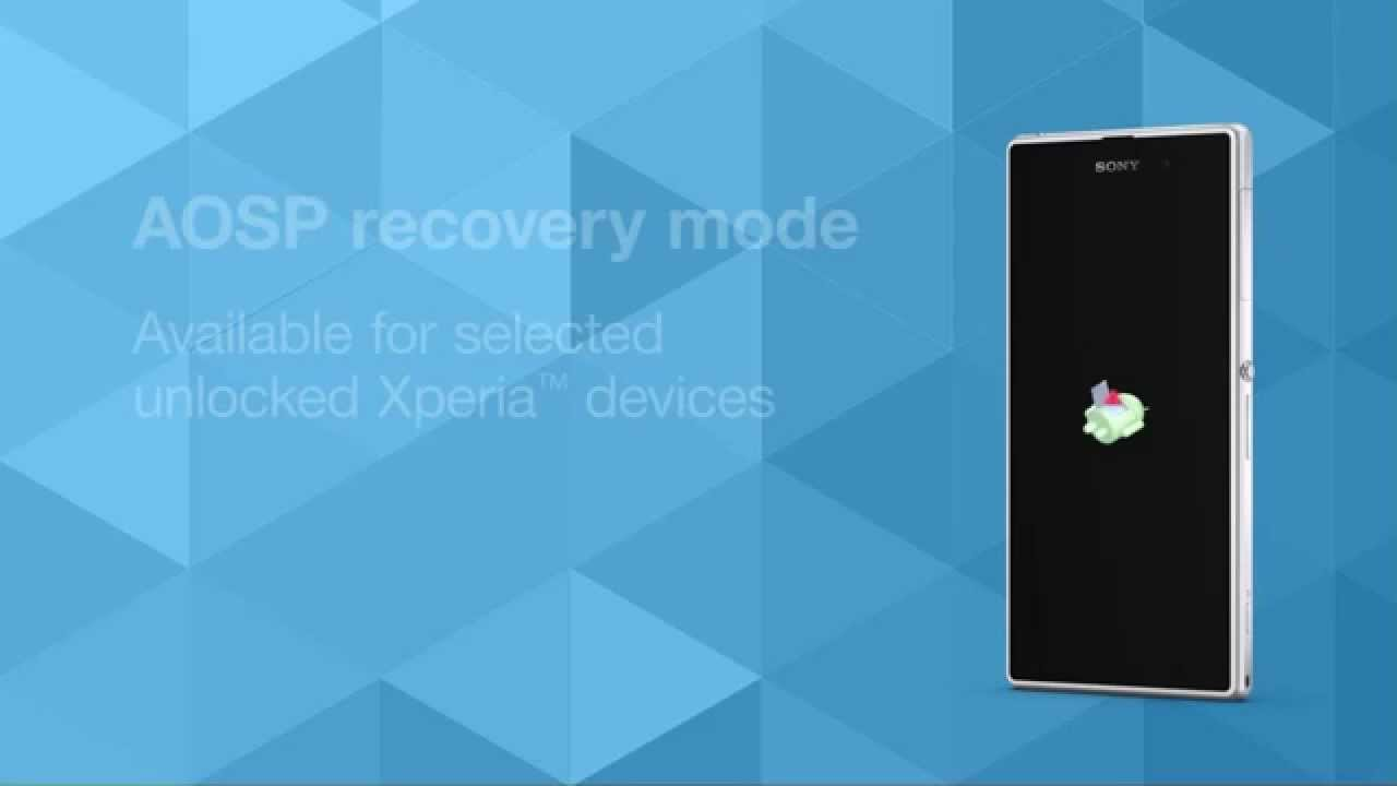 recovery mode available for selected unlocked Xperia devices - YouTube