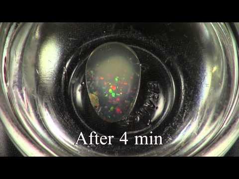 Hydrophane Opal - Absorption of water.