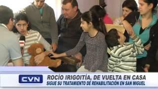 ROCÍO IRIGOITÍA EN SU CASA, RODEADA DEL AMOR DE SU FAMILIA