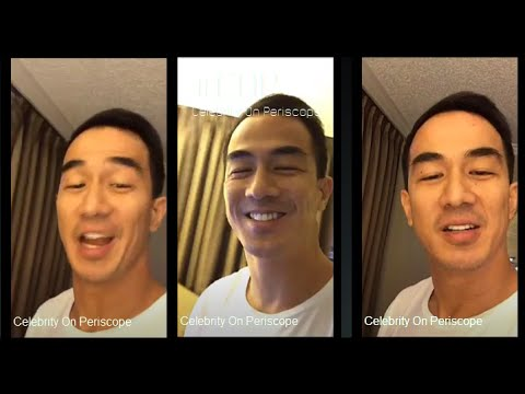 Joe Taslim Live on Periscope