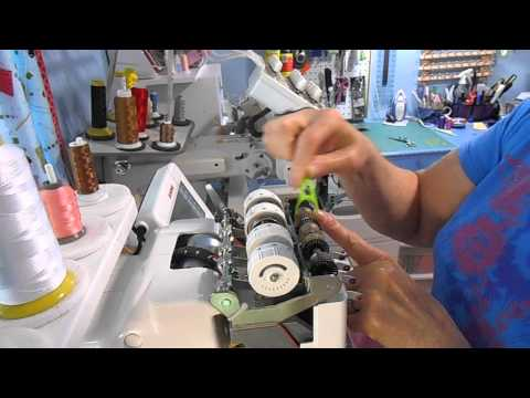 How to clean thread guides on a Janome MB4 embroidery machine.
